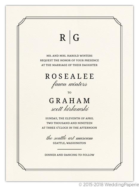 Traditional Double Frame Wedding Invitation | Wedding Invitations