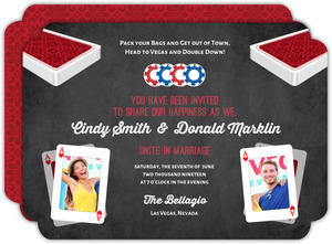 Poker Table Las Vegas Wedding Invitation