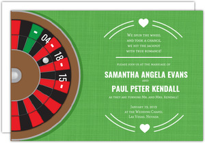 Roulette Table Las Vegas Wedding Invitation