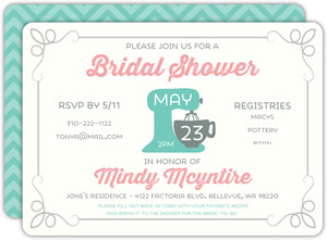 Retro Recipe Bridal Shower Invitation