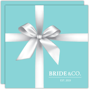 Elegant Teal Gift Bridal Shower Invitation