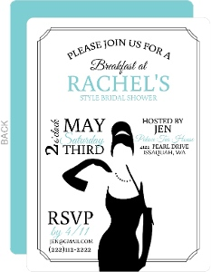 Classic Breakfast At Bridal Shower Invitation