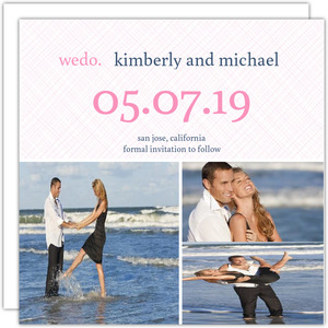 Modern Pink and Navy Simple We Do Save The Date