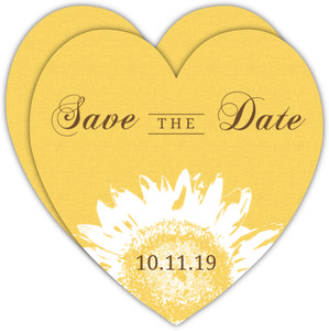 Yellow Sunflower Burst Save The Date