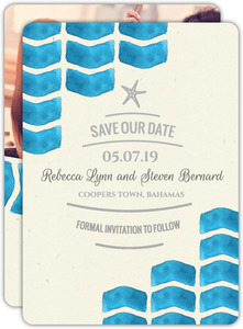 White Shell Wedding Invitation