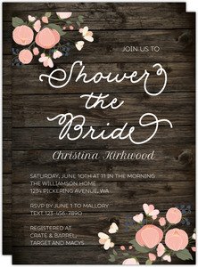 Rustic Bride Bridal Shower Invitation