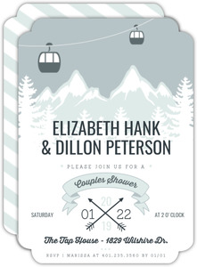 Scenic Winter Mountain Bridal Shower Invitation