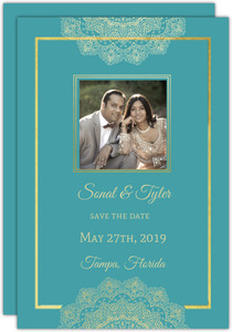 Vintage Purple Floral Save The Date Card