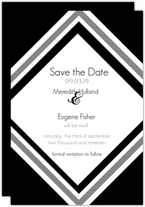 Modern Stripe Wedding Save The Date