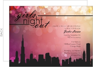 Girls Night In The City Bachelorette Party Invite