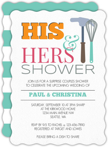 Whisk Hammer Couples Shower Invitation