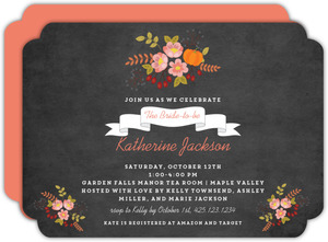 Autumn Foliage Bridal Shower Invitation
