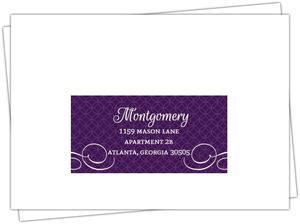 Elegant Purple Flourish Pattern Wedding RSVP Envelope
