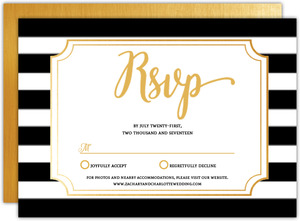 Chic Black & White Modern Wedding Response Card