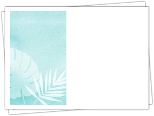 Tropical Watercolor Palms Wedding Custom Envelope