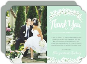 Whimsical Babys Breath Wedding Thank You Card
