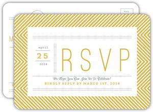 Beautiful Modern Statement Typography Wedding Response Card