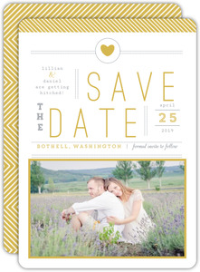Beautiful Modern Statement Typography Wedding Save The Date