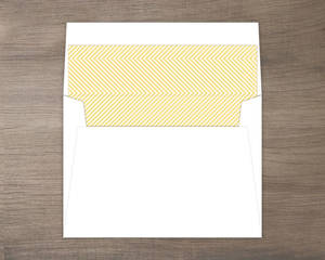 Beautiful Modern Statement Typography Wedding Custom Envelope Liner