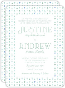 Deep Sea Beach Glass Pattern Wedding Invitation