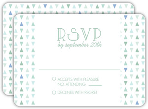 Deep Sea Beach Glass Pattern Wedding Response Card