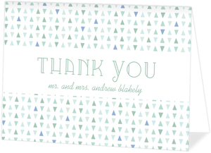 Deep Sea Beach Glass Pattern Wedding Thank You Card