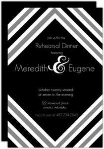 Modern Stripe Rehersal Dinner Invite