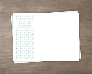Deep Sea Beach Glass Pattern Wedding Custom Envelope