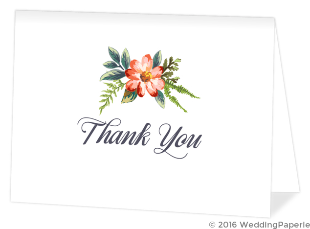 Delicate watercolor flowers wedding thank you card wedding thank delicate watercolor flowers wedding thank you card altavistaventures Choice Image