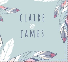 Chic Boho Feather Wedding Invitation