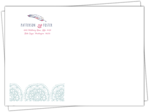Chic Boho Feather Custom Envelope