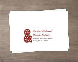Marquee Rustic Wood Decor Custom Response Mailing Address Envelope
