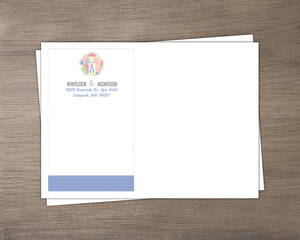 Geometric Modern Pastel Pattern Custom Envelope