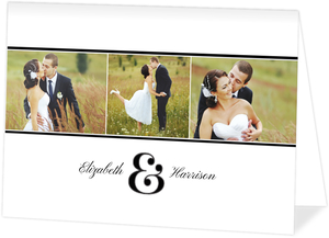 Modern Dot Frame Wedding Thank You Card
