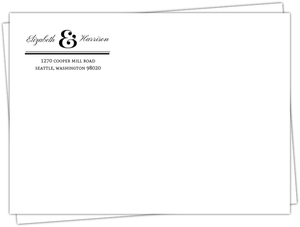 Modern Dot Frame Custom Envelope