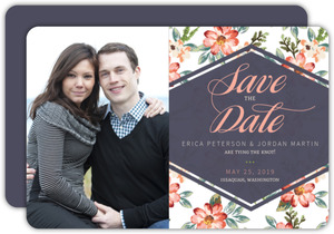 Delicate Watercolor Flowers Save The Date Card