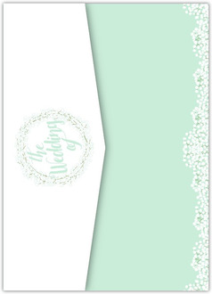 Whimsical Babys Breath Pocketfold Wedding Invitation