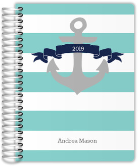 Aqua and Navy Nautical Anchor Wedding Planner