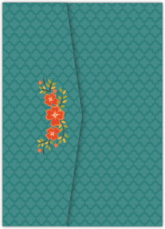 Colorful Hues Fall Wreath Pocketfold Wedding Invitation