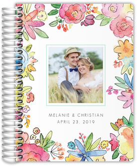 Colorful Watercolor Flowers Wedding Planner