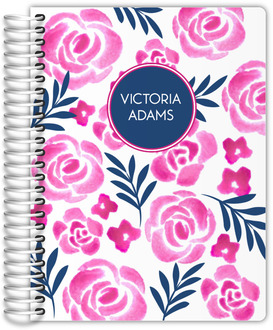 Pink Watercolor Floral Wedding Planner