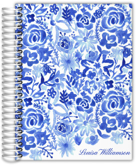 Cascading Handpainted Floral Wedding Planner