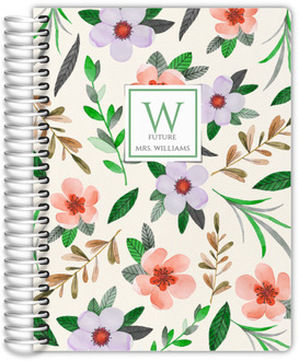 Watercolor Botanical Wedding Planner