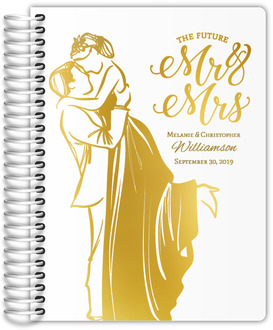 Modern Illustration Real Foil Wedding Planner