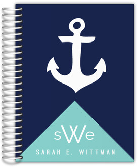 Modern Nautical Anchor Wedding Journal