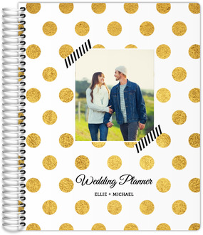 Faux Golden Polka Dots Wedding Planner