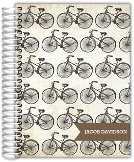 Antique Bicycle Pattern Wedding Planner