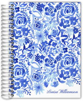 Cascading Handpainted Floral Wedding Journal
