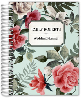 Vintage Mint Botanical Wedding Planner
