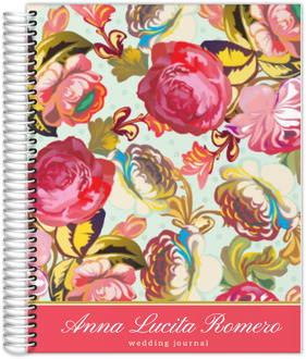 Pink Floral Garden Wedding Journal